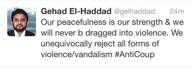 Muslim Brotherhood propagandist Gadad El-Hadad's twitter account.